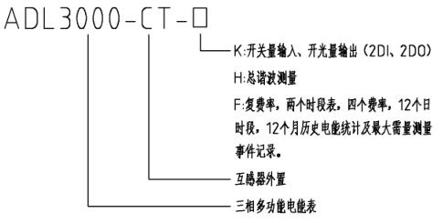 管理需求而设计的一款智能仪表;adl3000-ct 采用外置开口时互感器
